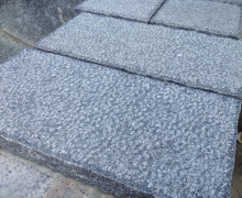 Grey Granite Paver, 5 faces cleaved, bottom sawn cut.