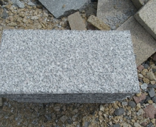 SL White Granite Paver, 5 faces cleaved, bottom sawn cut.